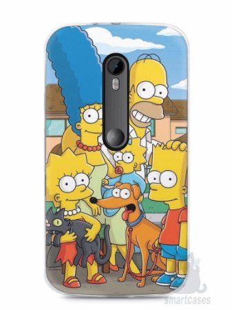 Kit com 3 Capas Moto G3 - Caveiras - Simpsons - Snoopy