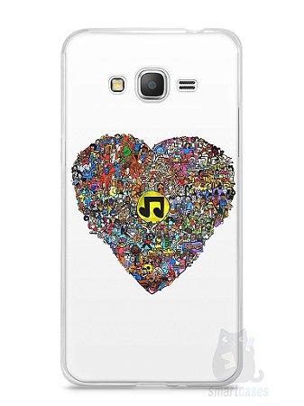 Capa Samsung Gran Prime Coração Personagens