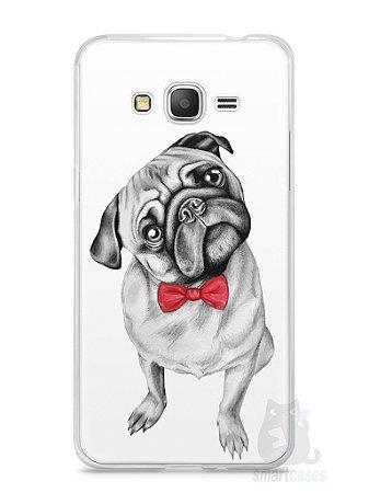 Capa Samsung Gran Prime Cachorro Pug Estiloso #2