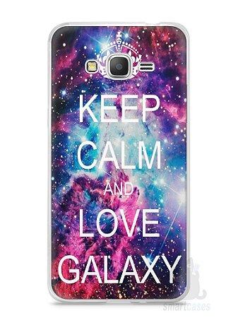 Capa Samsung Gran Prime Keep Calm and Love Galaxy