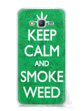 Capa Samsung Gran Prime Keep Calm and Smoke Weed