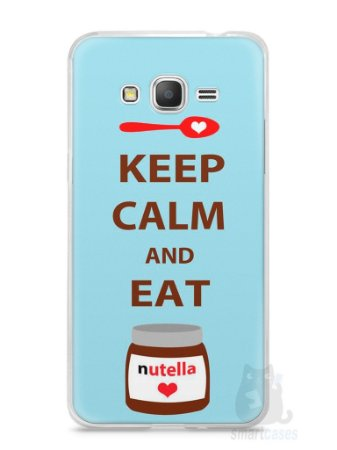 Capa Samsung Gran Prime Keep Calm and Eat Nutella