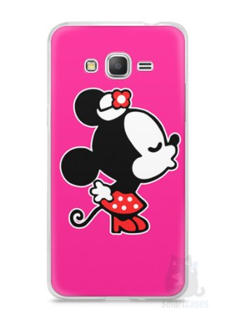 Capa Samsung Gran Prime Mickey e Minnie Beijo