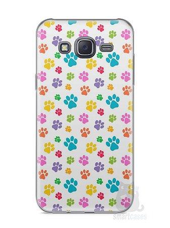 Capa Samsung J5 Patinhas Coloridas #1
