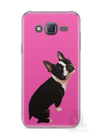 Capa Samsung J5 Cachorro Boston Terrier