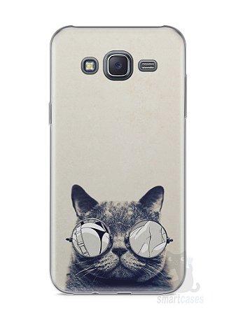 Capa Samsung J5 Gato Com Óculos