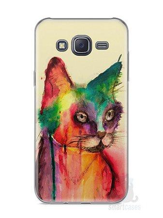 Capa Samsung J5 Gato Pintura