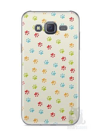 Capa Samsung J5 Patinhas Coloridas #2