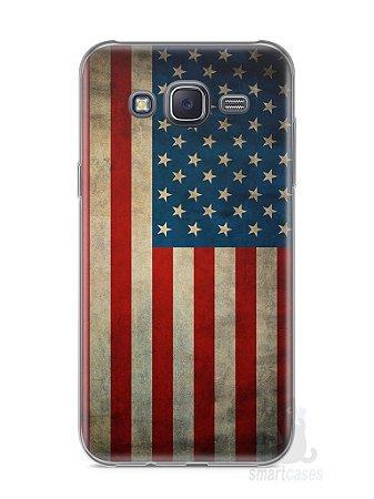 Capa Samsung J5 Bandeira EUA