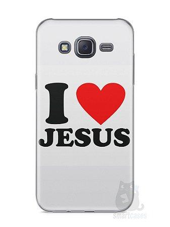 Capa Samsung J5 I Love Jesus