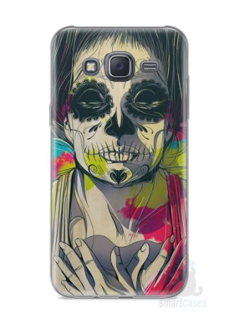 Capa Samsung J5 Caveira Pintura
