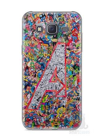 Capa Capinha Samsung J5 The Avengers Comic Books