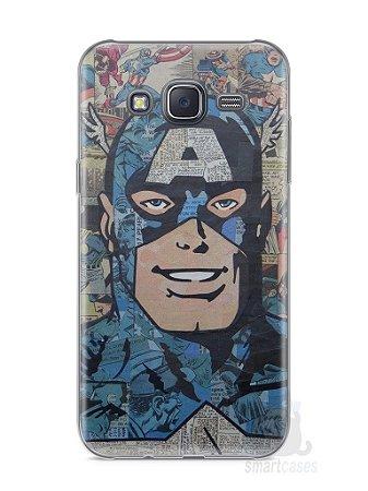 Capa Capinha Samsung J5 Capitão América Comic Books #2
