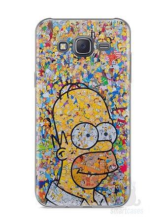 Capa Capinha Samsung J5 Homer Simpson Comic Books