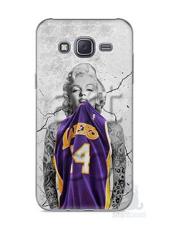 Capa Capinha Samsung J5 Marilyn Monroe Lakers