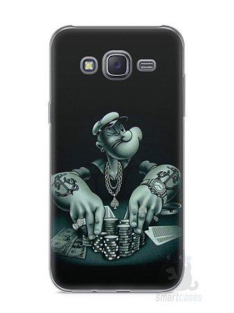 Capa Capinha Samsung J5 Popeye Jogando Poker