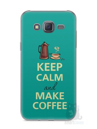 Capa Capinha Samsung J5 Keep Calm and Make Coffee