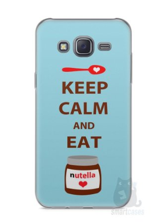 Capa Capinha Samsung J5 Keep Calm and Eat Nutella
