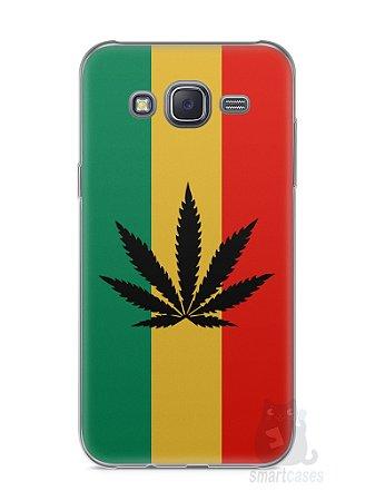 Capa Capinha Samsung J5 Rasta Weed #2