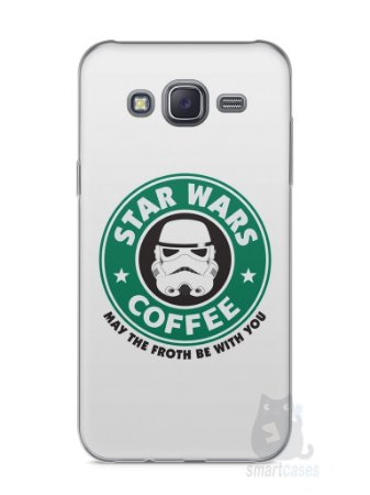 Capa Capinha Samsung J5 Star Wars Coffee