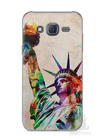 Capa Capinha Samsung J5 Estátua da Liberdade Colorida