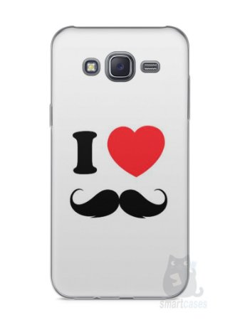 Capa Capinha Samsung J5 I Love Bigode #1