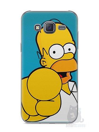 """Capa Capinha Samsung J5 Homer Simpson """"Escolho Você"""""""