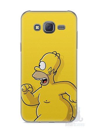 Capa Capinha Samsung J5 Homer Simpson Correndo Pelado
