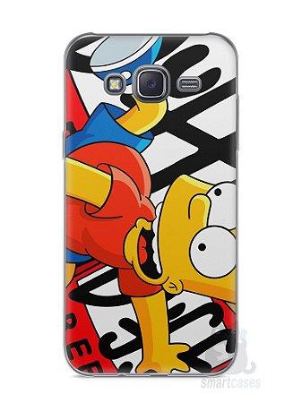 Capa Capinha Samsung J5 Bart Simpson Duff
