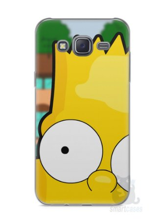 Capa Capinha Samsung J5 Bart Simpson Face