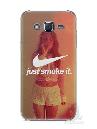 Capa Capinha Samsung J5 Just Smoke It