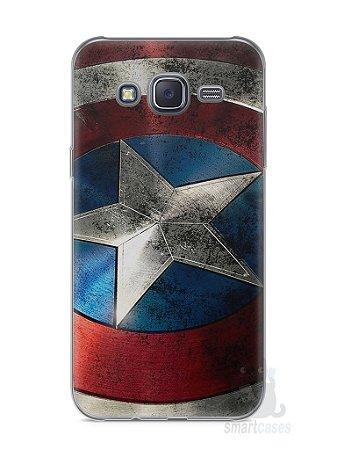 Capa Capinha Samsung J5 Escudo Capitão América