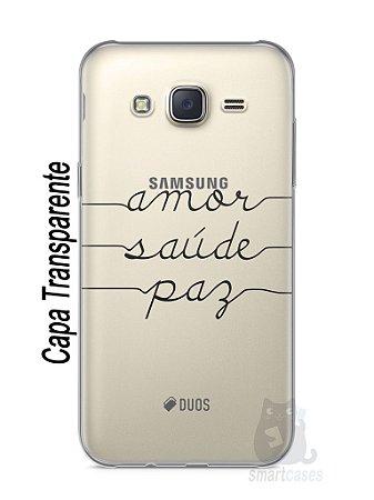 Capa Capinha Samsung J5 Amor Saúde Paz