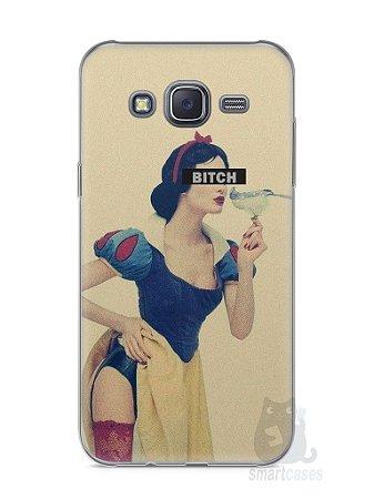 Capa Capinha Samsung J5 Branca de Neve Bitch