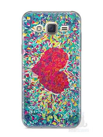 Capa Capinha Samsung J7 Coração Pintura