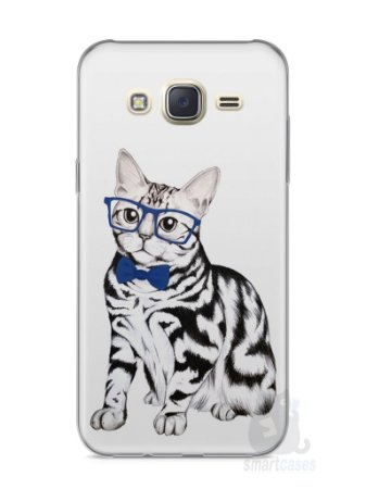 Capa Capinha Samsung J7 Gato Estiloso