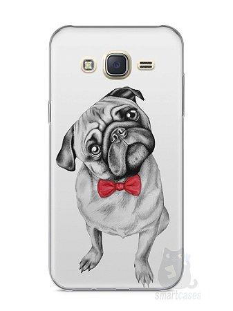 Capa Capinha Samsung J7 Cachorro Pug Estiloso #2