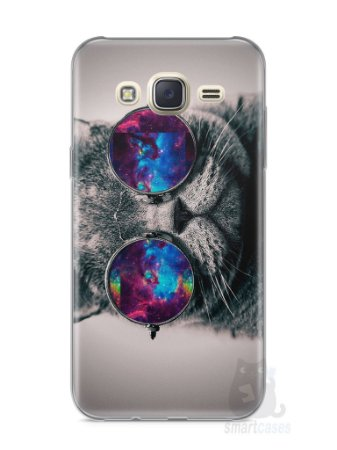 Capa Capinha Samsung J7 Gato Galáxia #1