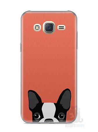 Capa Capinha Samsung J7 Cachorro Bulldog Francês #1