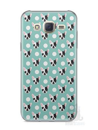 Capa Capinha Samsung J7 Cachorros Bulldog Francês