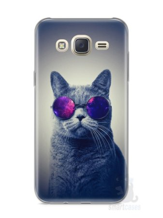 Capa Capinha Samsung J7 Gato Galáxia #2