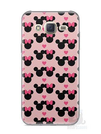 Capa Capinha Samsung J7 Mickey e Minnie