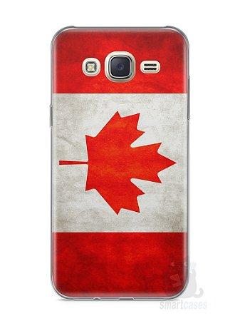 Capa Capinha Samsung J7 Bandeira do Canadá