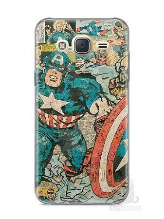 Capa Capinha Samsung J7 Capitão América Comic Books #1