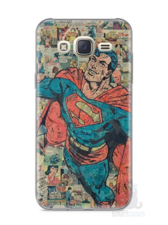Capa Capinha Samsung J7 Super Homem Comic Books