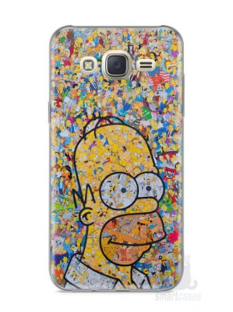 Capa Capinha Samsung J7 Homer Simpson Comic Books