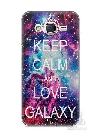 Capa Capinha Samsung J7 Keep Calm and Love Galaxy