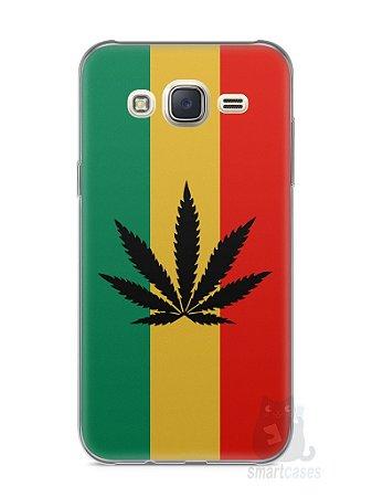 Capa Capinha Samsung J7 Rasta Weed #2