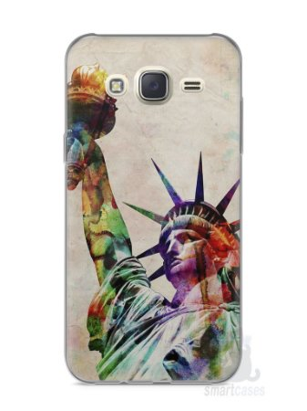 Capa Capinha Samsung J7 Estátua da Liberdade Colorida
