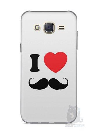 Capa Capinha Samsung J7 I Love Bigode #1